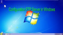 How to Setup an FTP Server in Windows