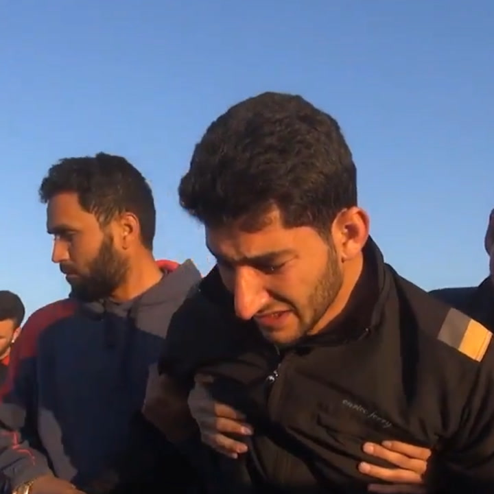 This man lost his twin babies during a gas attack in Syria