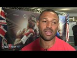 """Kell Brook ready to go thru hell to defend belt. Khan """"hits the deck quick but fight won't happen"""""""