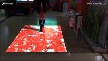 V-studio portable interactive  floor projection