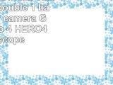 DURAGADGET Mini chargeur USB double  1 batterie pour caméra GoPro 4 Hero 4  HERO4