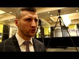 """Carl Froch goes in! """"Ward when he fights is disgusting to watch! what he does is disgusting!"""""""