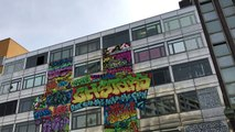 In Berlin, a street art gallery designed to be destroyed