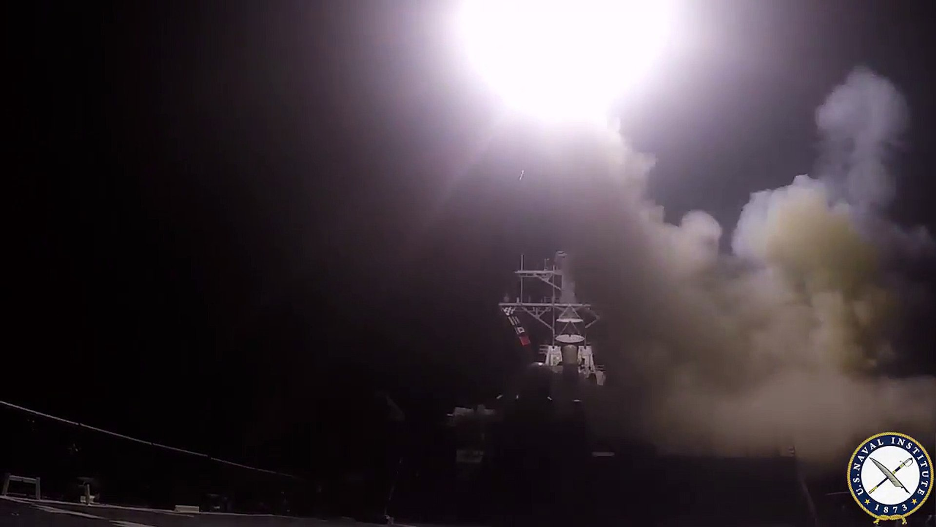 USS Ross Launches Tomahawk Strike on Syrian Air Base