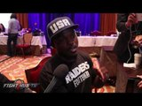 """Tim Bradley """"Fighting Errol Spence will be a pay day?""""- Open to fights with all PBC Fighters"""