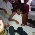 This little girl was living with monkeys