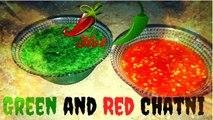 LAAL OR HARI CHUTNEY RECIPE   RED AND GREEN SPICY CHUTNEY   RECIPE IN URDU/HINDI (How To Make Red/Green Chilli Chutney)