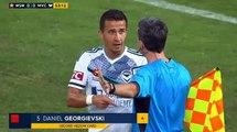Daniel Georgievski red card - Western Sydney Wanderers - Melbourne Victory 08.04.2017