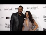 """NFL Star James Anderson and Carissa Rosario 2017 """"Living Legends of Aviation Awards"""" Red Carpet"""