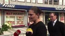 Stoccolma, la principessa Vittoria rende omaggio alle vittime
