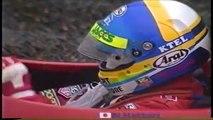 Formula Nippon Fuji Rd 10 1996 Hattori spins Schumacher champion (Funny Japanese commentary)