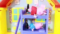 Peppa Pig Park Playground Candy Cat Birthday Party Play-Doh Muddy Puddles DisneyCarToys