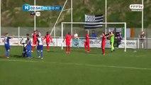 Ouverture du score sur corner par Grégory Gendrey