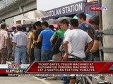 SONA: Ticket gates, teller machines at automated vending machines ng LRT2 Santolan, pumalya