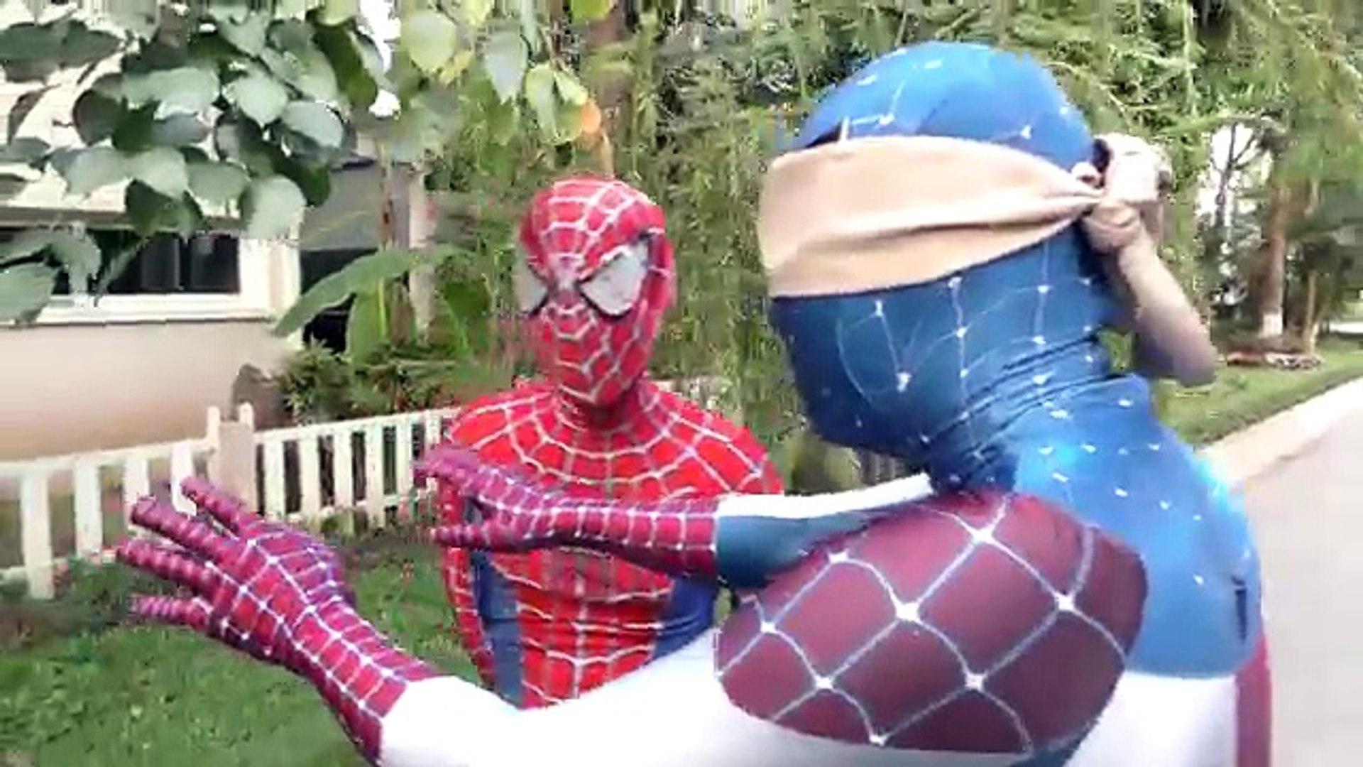 Spiderman CHASED by Monster Truck Attack!!! Venom Joker Hulk Captain America Children Action Movies