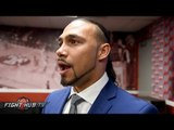 Keith Thurman reacts to Danny Garcia's TKO win & feels he can entice Mayweather to come back