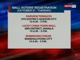 NTVL: Mall voters' registration for Tuesday (October 27, 2015)