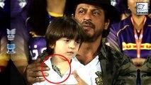 Shah Rukh Khan & AbRam FLAUNT Same Tattoos During IPL Match