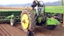 John Deere Tractors Planting with the John Deere A Spring 2013 John Deere Tractors