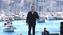 """Mélenchon à Marseille: """"Je suis le candidat de la paix"""""""