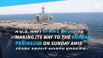 US Navy strike group moves toward Korean peninsula