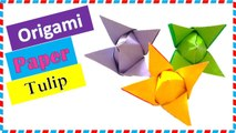 Flower Making: How to Make an Origami Tulip Flower (Easy)