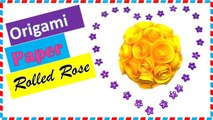 Paper Roses: How to make an origami rolled rose paper (Easy)