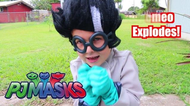PJ MASKS Superheroes IRL SHARK EATS CATBOY_ PRANK! Funny Superhero Gekko CATBOY JAIL Prison