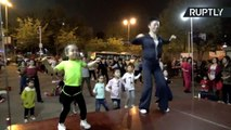 5-Year-Old Dance Instructor Gets Crowd of Adults Grooving to the Beat