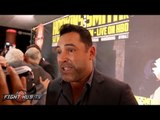 """Oscar De La Hoya """"His discipline is what made him. There won't be someone like him for awhile"""""""