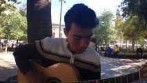 Artista Callejero: Jesus González joven músico Venezolano,desde plaza de armas- El Ciudadano .
