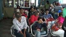 Abarrotadas terminales de buses en la capital