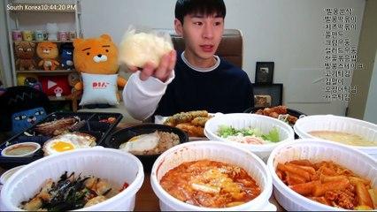 BANZZ▼ Banzz Ordered All the Popular Menu from Bbalbong Restaurant! Mukbang Highlight 밴쯔▼ 빨봉분식 인기메뉴를 싹 시켰다! 빨봉분식 먹방하이라이트