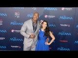 "Dwayne Johnson & Auli'i Cravalho AFI FEST ""Moana"" Premiere Blue Carpet"