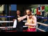 Paulie Malignaggi vs. Gabriel Bracero - COMPLETE Malignaggi media workout video