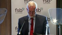 Corbyn shuts down BBC journalist at business conference