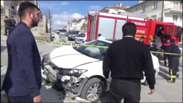 Karaman Otomobiliyle Kaza Yapan Oğlunu Sopayla Kovaladı