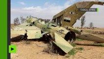 Syrie : images rares de la base aérienne Tabqa reprise aux djihadistes près de Raqqa