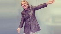 Hillary Clinton Models Katy Perry's 'Hillary Clinton' Shoe Design