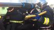 Exercice de secours routier par les pompiers
