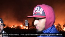 Migrant camp burns to the ground after night of violence