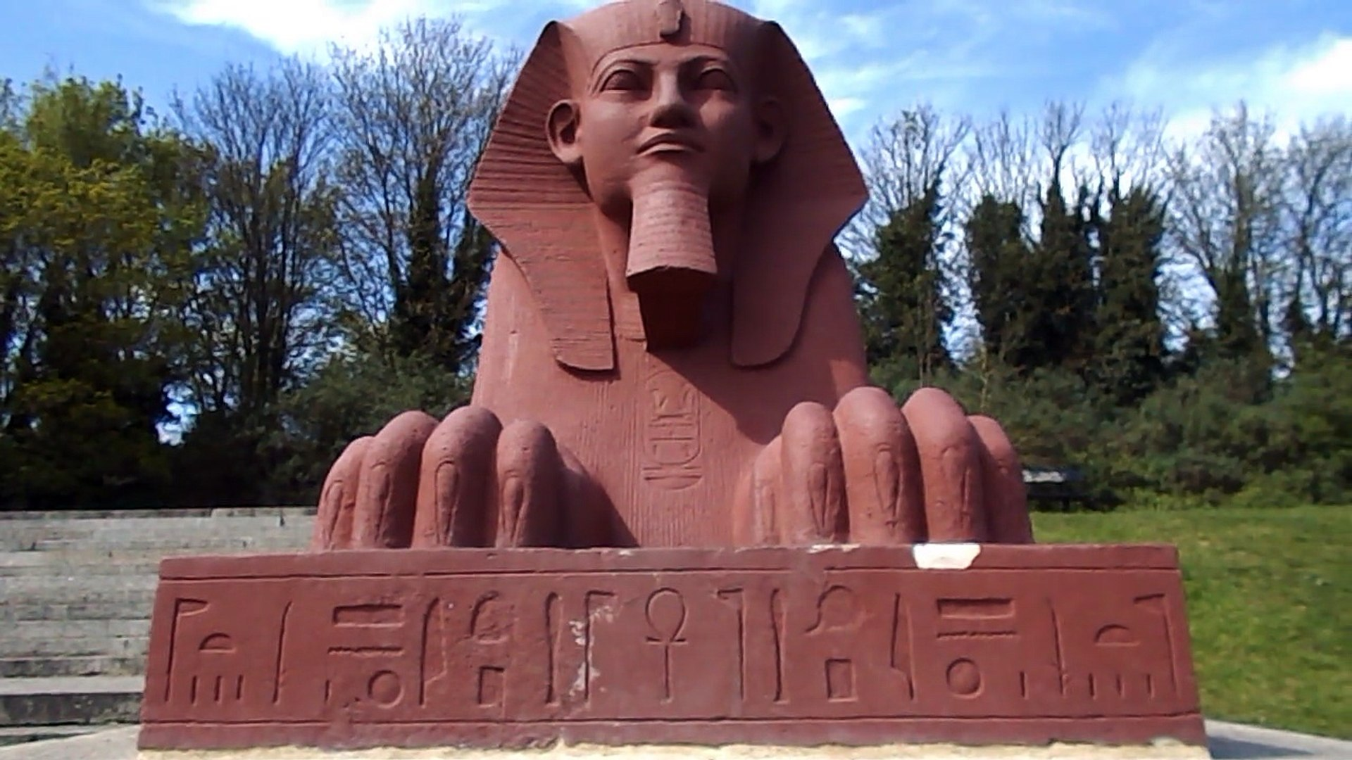 Egyptian sphinxes in Crystal Palace park