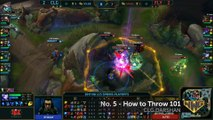 WWG League of Legends LCS Top 5 Moments - LCS Playoffs Week 1