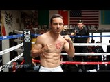 Fernando Montiel is crazy ripped! shadow boxes 3 days out from fight & shows off Bruce Lee like abs!