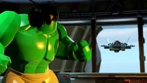 Lego Marvels Avengers Hulk Attacks Stan Lee's Fighter Jet Scene 'The Avengers'