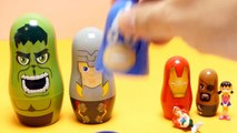 New Avengers Stacking Cups Surprise Nesting Doll Baby Toys - Disney Captain America, Hulk, Iron M