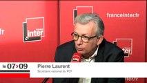 """Pierre Laurent : """"Je crois qu'une présidence de Marine Le Pen serait une présidence extrêmement dangereuse pour la paix."""""""