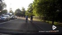 Des conducteurs viennent en aide à des canetons coincés sur la route