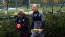 Dernier entraînement des Anderlechtois avant le match contre ManU