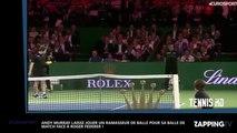Roger Federer : Andy Murray cède sa place à un ramasseur de balle pour affronter le Suisse (Vidéo)